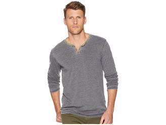 Lucky Brand Color Block Burnout Notch Neck Tee