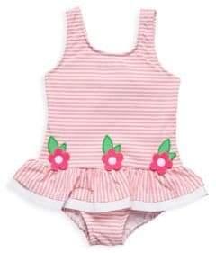 Florence Eiseman Baby Girl's& Little Girl's One-Piece Seersucker Swimsuit