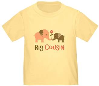 CafePress - Big Cousin - Elephan T-Shirt - Cute Toddler T-Shirt, 100% Cotton