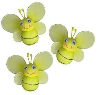 Bumble Bee The Butterfly Grove Bailey Bumblebee Decoration 3D Hanging Mesh Nylon Decor, Yellow Daffodil, Mini, 3 x 3