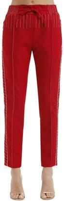 Valentino Stitching Techno Gabardine Track Pants