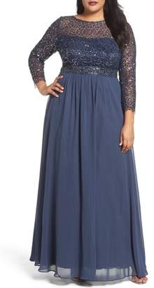 Decode 1.8 Embellished A-Line Chiffon Gown