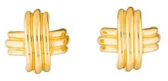 Tiffany & Co. 18K Signature X Clip-On Earrings