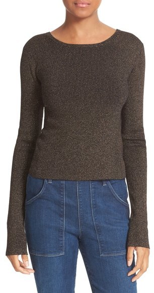 A.L.C. Chance Metallic Knit Sweater