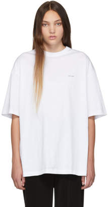 Balenciaga White Mini Logo Oversized T-Shirt