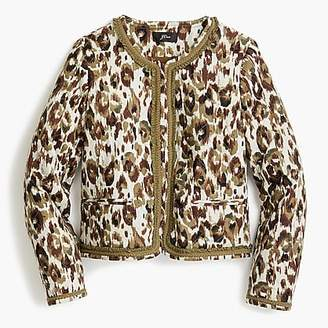 J.Crew Quilted lady jacket in autumn cheetah