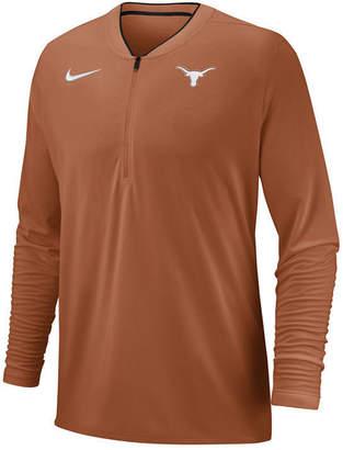 Nike Men Texas Longhorns Coaches Quarter-Zip Pullover 2018