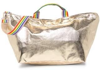 Brasi & Brasi brasi&brasi Metallic Rainbow Trim Half Tote Bag