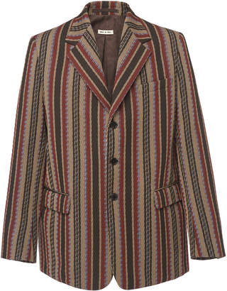 Marni Oversized Striped Three Button Blazer