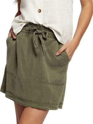Dex Pullon Paperbag Self-Tie Skirt