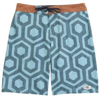 O'Neill Hyperfreak Wrenched Board Shorts (Big Boys)