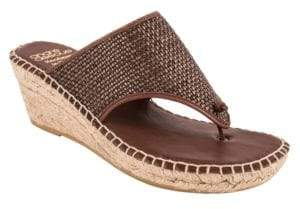Andre Assous Addie Leather Thong Sandals $169 thestylecure.com