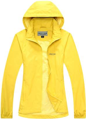 fe51f570117 GREEN CRAB Women s Windproof Waterproof Rain Jacket Lady Hooded Breathable  Coat