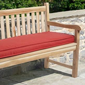 "Mozaic Sunbrella 48"" x 19"" Textured Outdoor Bench Cushion"