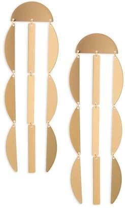 Panacea Linear Crescent Earrings