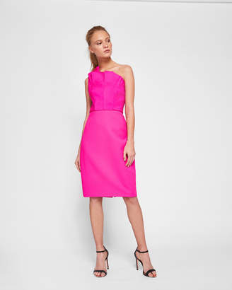 Ted Baker CHARLIA One shoulder frill bodycon dress