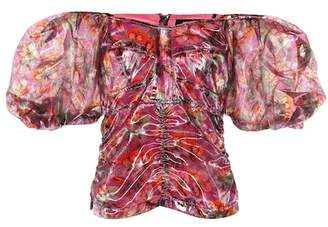 Isabel Marant Orval floral lamé top