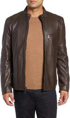 Andrew Marc Quilted Leather Moto Jacket