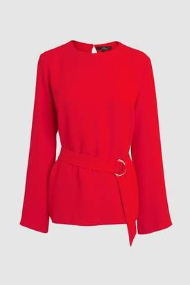 Next Womens Red Co-Ord D-Ring Belted Top