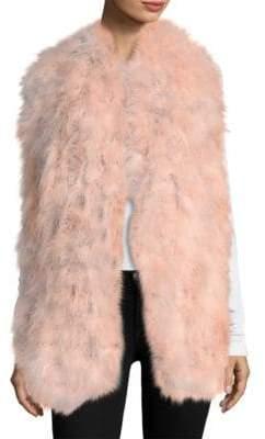 Pello Bello Long Knit Feather Scarf
