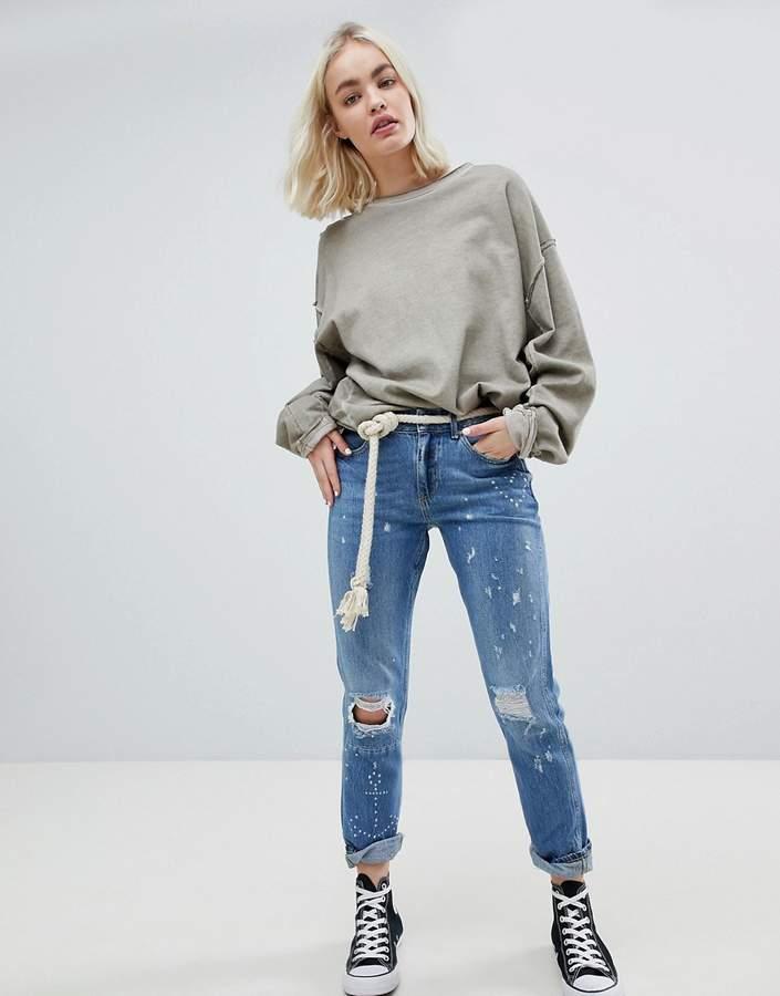 – Bandit Blauw Me – Zerschlissene Boyfriend-Jeans