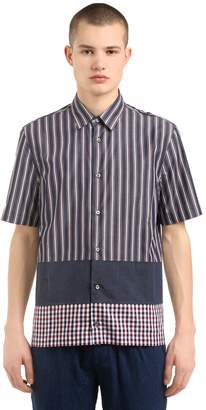 Antonio Marras Patchwork Cotton Poplin Shirt