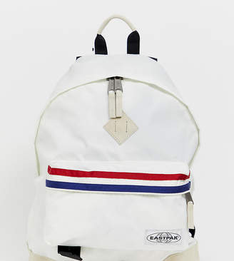 Eastpak Wyoming retro white backpack with stripes