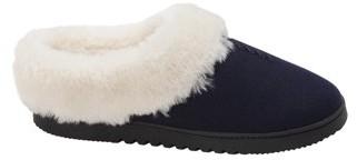 Dearfoams Women's Genuine Wool Clog Stitch Slippers