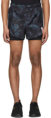 Satisfy Black and Green Tie-Dye Short Distance 3 Shorts