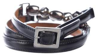 Christian Dior Embellished Leather Belt