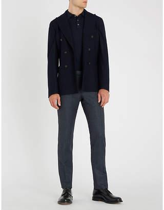 SLOWEAR Long-sleeved wool-blend polo shirt