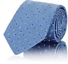Kiton Men's Floral Silk Faille Necktie - Lt. Blue