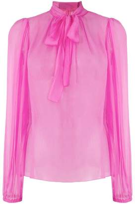 Dolce & Gabbana pussybow sheer blouse