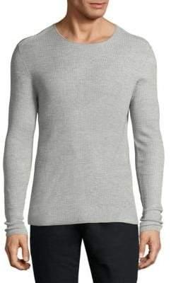 John Varvatos Silk Blend Long Sleeve Sweater