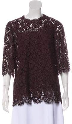 Dolce & Gabbana Lace Three-Quarter Sleeve Blouse w/ Tags