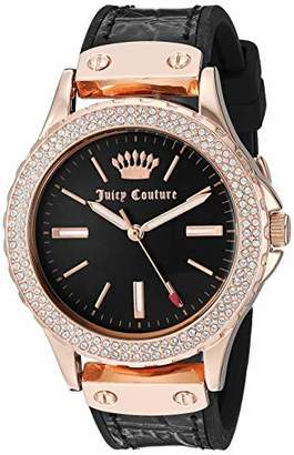 Juicy Couture Black Label Women's Swarovski Crystal Accented Leather Strap Watch