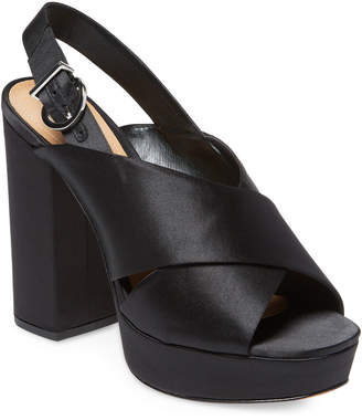 Schutz Millie Satin Platform Sandal