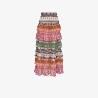 1011a51e5b Zimmermann Amari tiered maxi skirt