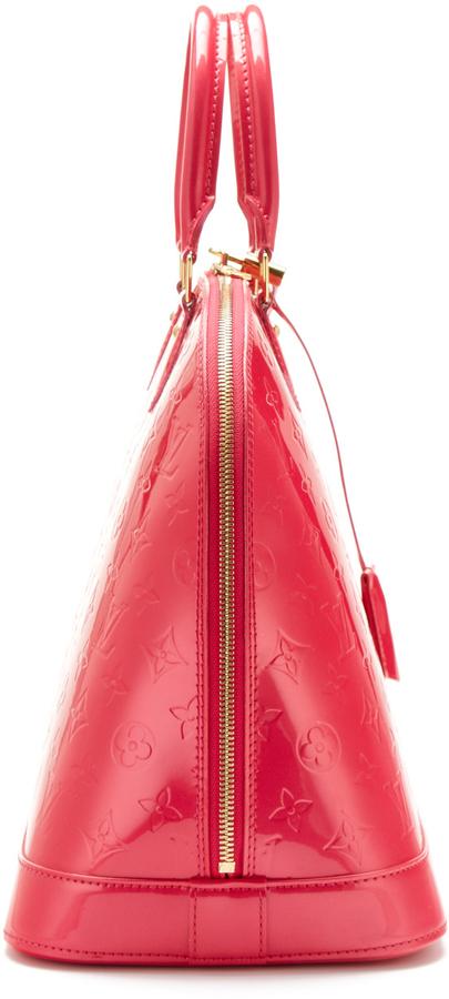 Louis Vuitton Rare Rose Pop Monogram Vernis Alma GM