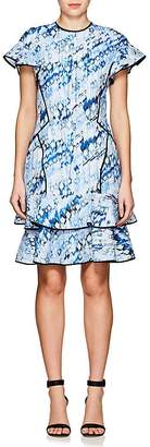 J. Mendel Women's Abstract-Print Silk-Blend Cloqué Minidress