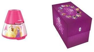 Philips Disney Princess Children's Night Light and Projector Integrated LED, 1 x 0.1 W with Disney Princess 11 Movie Keepsake Boxset [DVD] [2015]