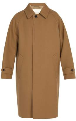 Mackintosh - Button Fastening Side Vent Wool Overcoat - Mens - Camel