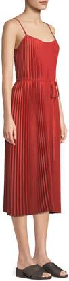 Vince Pleated Cami Midi Dress