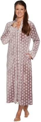 Carole Hochman Stretch Velour Full Zip Lounge Robe