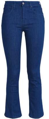 Victoria Beckham Victoria Cropped High-Rise Bootcut Jeans
