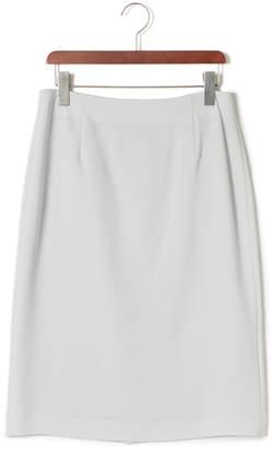 Lautreamont (ロートレアモン) - LAUTREAMONT セラテリーダブルクロス ベーシックタイトスカート グレー 40
