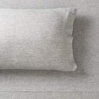 Pottery Barn Teen Belgian Linen Sheet Set, Twin/Twin XL, Flagstone