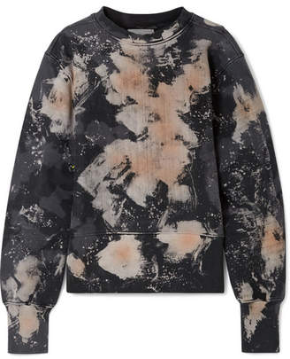 TRE by Natalie Ratabesi - Wild Iris Editor Cutout Tie-dyed Cotton Sweatshirt - Charcoal