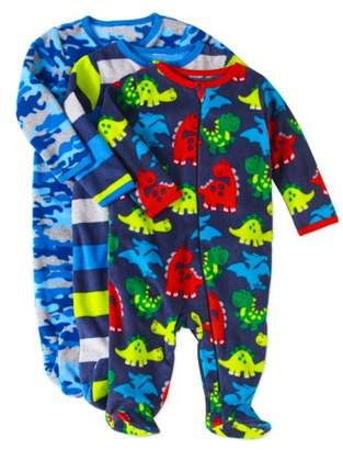 N. Garanimals Newborn Baby Boys' Inverted Zipper Microfleece Sleep 'N Play, 3-Pack