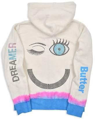Butter Shoes Girls' Fleece Dip-Dye Embellished Dreamer Hoodie - Little Kid, Big Kid